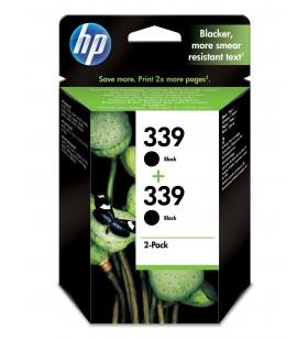 HP 339 Original Negru Pachet multiplu 2 buc.