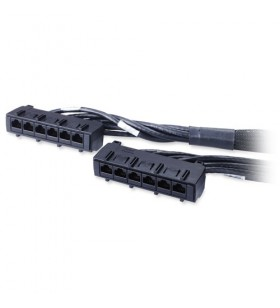 APC 23ft Cat6 UTP, 6x RJ-45 - 6x RJ-45 cabluri de rețea 7 m U UTP (UTP) Negru