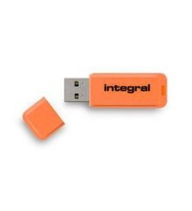 Integral NEON memorii flash USB 16 Giga Bites USB Tip-A 2 Portocală