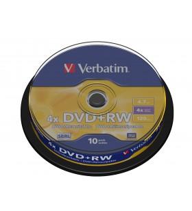 Verbatim DVD+RW Matt Silver 4,7 Giga Bites 10 buc.