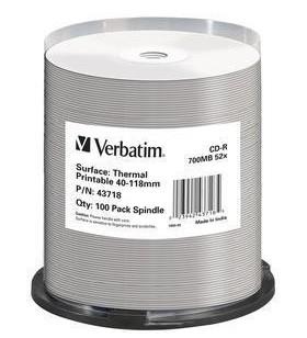 Verbatim 43718 CD-uri blank CD-R 700 Mega bites 100 buc.