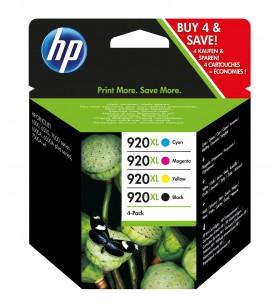 HP 920XL Original Negru, Cyan, Magenta, Galben Pachet multiplu 4 buc.