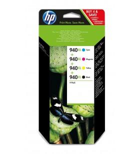HP 940XL Original Negru, Cyan, Magenta, Galben Pachet multiplu 4 buc.