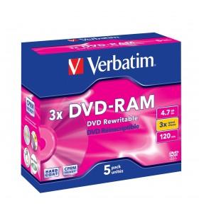 Verbatim DVD-RAM 3x 4,7 Giga Bites 5 buc.