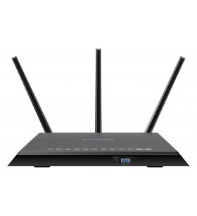 Netgear R7000 router wireless Bandă dublă (2.4 GHz  5 GHz) Gigabit Ethernet Negru