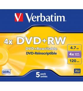 Verbatim DVD+RW Matt Silver 4,7 Giga Bites 5 buc.