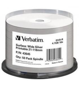 Verbatim 43645 DVD-uri blank 4,7 Giga Bites DVD-R 50 buc.