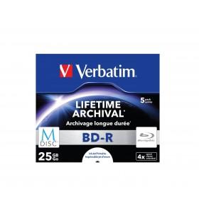Verbatim M-Disc 4x BD-R 25 Giga Bites 5 buc.