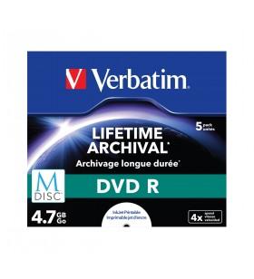 Verbatim M-Disc DVD R 4,7 Giga Bites 5 buc.