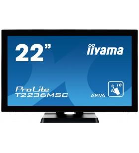 "iiyama ProLite T2236MSC-B2 monitoare cu ecran tactil 54,6 cm (21.5"") 1920 x 1080 Pixel Multi-touch"