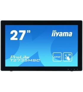 "iiyama ProLite T2735MSC-B2 monitoare cu ecran tactil 68,6 cm (27"") 1920 x 1080 Pixel Multi-touch"
