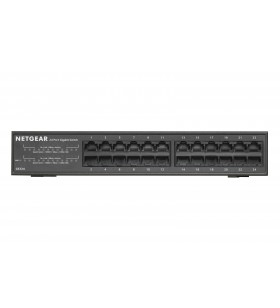 Netgear GS324 Fara management Gigabit Ethernet (10 100 1000) Negru 1U