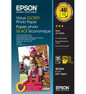 Epson Value Glossy Photo Paper - 10x15cm - 2x 20 de coli