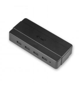 i-tec U3HUB445 hub-uri de interfață USB 3.2 Gen 1 (3.1 Gen 1) Type-B 5000 Mbit s Negru