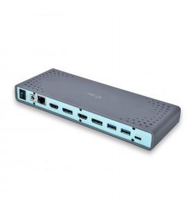 i-tec CADUAL4KDOCK stații de andocare și replicatoare de porturi pentru calculatoare portabile Prin cablu USB 3.2 Gen 1 (3.1