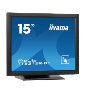 "iiyama ProLite T1531SR-B5 monitoare cu ecran tactil 38,1 cm (15"") 1024 x 768 Pixel Negru"