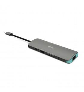 i-tec Metal C31NANODOCKLANPD stații de andocare și replicatoare de porturi pentru calculatoare portabile Prin cablu USB 3.2 Gen
