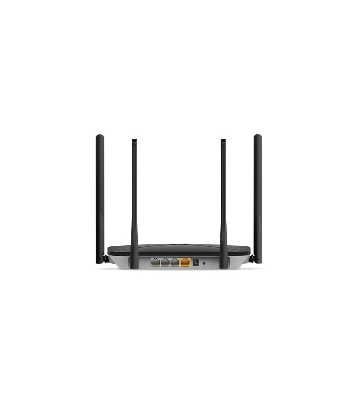"ROUTER MERCUSYS wireless 1200Mbps, 3 porturi 10/100/1000Mbps, Dual Band AC1200 (867+300), 4 x antena exterior, ""AC12G""(include"