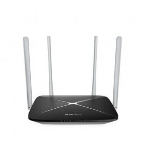 "ROUTER MERCUSYS wireless 1200Mbps, 4 porturi 10/100Mbps, Dual Band AC1200 (867+300), 4 x antena exterior, ""AC12"" -  692884"