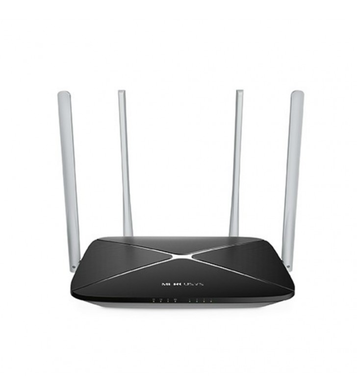 "ROUTER MERCUSYS wireless 1200Mbps, 4 porturi 10/100Mbps, Dual Band AC1200 (867+300), 4 x antena exterior, ""AC12"" -  692884"