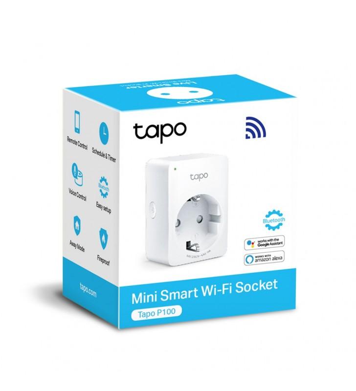 """PRIZA Wi-Fi inteligenta TP-LINK  1 x priza Schuko, 16A, compatibila Google Assistant si Amazon Alexa,programabila, white, """"Tapo"""