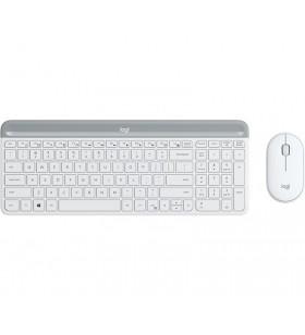 Logitech MK470 tastaturi RF fără fir QWERTY US International Alb