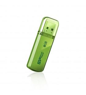 Silicon Power 8GB Helios 101 memorii flash USB 8 Giga Bites USB Tip-A 2.0 Verde
