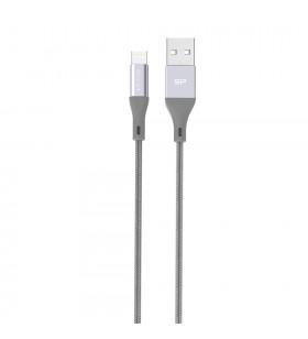 Silicon Power Boost Link Nylon LK30AB cabluri USB 1 m 2.0 USB A Micro-USB B Gri