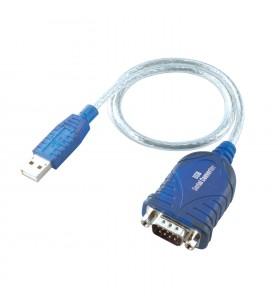 i-tec USBSEAD cabluri prelungitoare cu mufe mamă tată USB RS-232 Albastru, Transparente