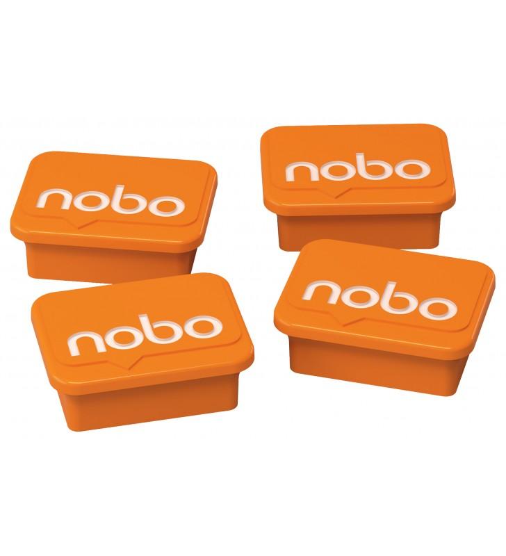 """MAGNETI NOBO, pentru table, portocaliu, 4buc/set, """"1905327"""""""