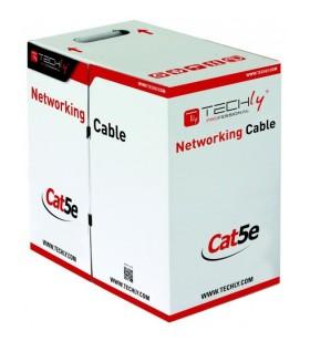 Techly ITP8-FLU-0305 cabluri de rețea 305 m Cat5e U UTP (UTP) Gri