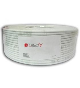 Techly ITP-C6U-FL-100 cabluri de rețea 100 m Cat6 U FTP (STP) Gri