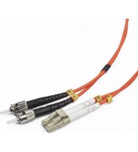 """CABLU FIBRA OPTICA duplex multimode,  2m, conectori LC-ST, bulk, Gembird """"CFO-LCST-OM2-2M"""" - Lichidare stoc"""
