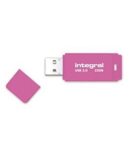 Integral NEON 3.0 memorii flash USB 32 Giga Bites USB Tip-A 3.2 Gen 1 (3.1 Gen 1) Roz