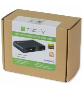 Techly IDATA EXTIP-383IRRX repetoare audio video Receiver AV Negru