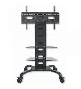 """Techly ICA-TR8 suporturi de podea pentru televizor 177,8 cm (70"""") Stand de podea mobil pentru ecran plat Negru"""