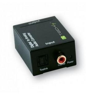 Techly IDATA SPDIF-3 cabluri prelungitoare cu mufe mamă tată Multiconnection RCA Negru