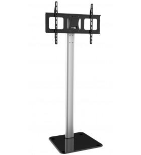 """Techly ICA-TR11 suporturi de podea pentru televizor 177,8 cm (70"""") Stand de podea pentru panou fix Negru, Argint"""