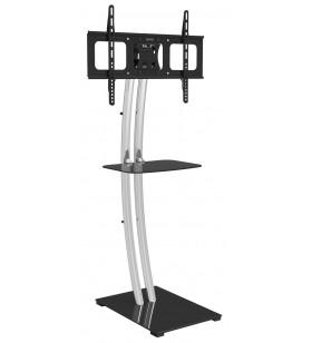 """Techly ICA-TR14 suporturi de podea pentru televizor 177,8 cm (70"""") Stand de podea pentru panou fix Negru, Argint"""
