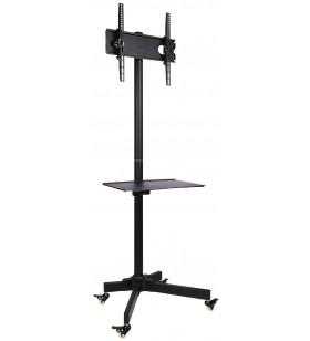 """Techly ICA-TR21 suporturi de podea pentru televizor 139,7 cm (55"""") Stand de podea mobil pentru ecran plat Negru"""