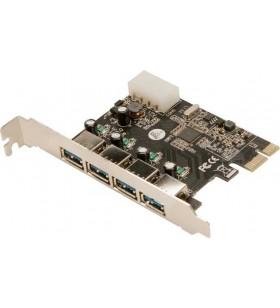 """CARD adaptor LOGILINK, PCI-Express la 4 x USB3.0, """"PC0057A"""""""