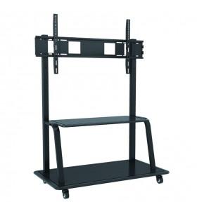"""Techly ICA-TR30 suporturi de podea pentru televizor 2,54 m (100"""") Stand de podea mobil pentru ecran plat Negru"""