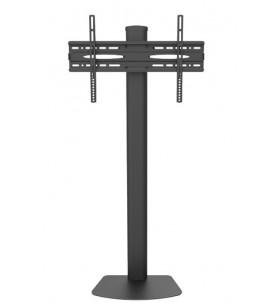 """Techly ICA-TR27 suporturi de podea pentru televizor 139,7 cm (55"""") Stand de podea mobil pentru ecran plat Negru"""