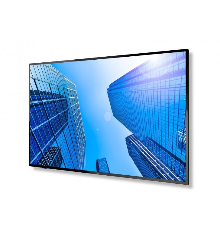 "NEC MultiSync E437Q 108 cm (42.5"") LED 4K Ultra HD Panou informare digital de perete Negru"