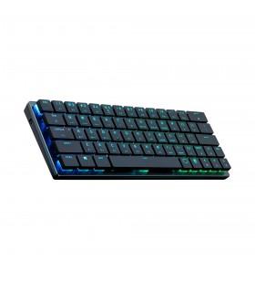 Cooler Master SK621 tastaturi USB + Bluetooth QWERTY Engleză SUA Gri, Din oţel inoxidabil