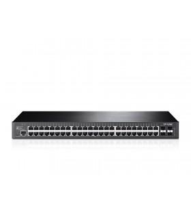 TP-LINK T2600G-52TS (TL-SG3452) Gestionate L2+ Gigabit Ethernet (10 100 1000) Negru 1U