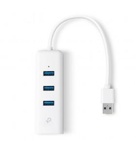 TP-LINK UE330 hub-uri de interfață USB 3.2 Gen 1 (3.1 Gen 1) Type-A 1000 Mbit s Alb