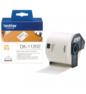 Brother DK-11202 benzi pentru etichete Negru pe alb