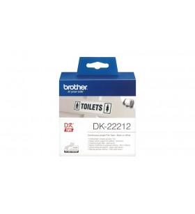 Brother DK-22212 benzi pentru etichete Negru pe alb