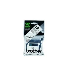 Brother Labelling Tape - 12mm, Black White, Blister benzi pentru etichete M